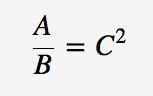 C^2 = A/B
